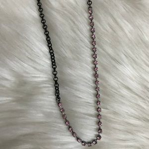 Harajuku Lovers Pink Rhinestone and Chain Necklace
